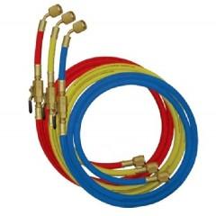 Комплект 4-х нланг с шаровыми вентилями длиной 1,3 м для заправочного манометрического коллектора.