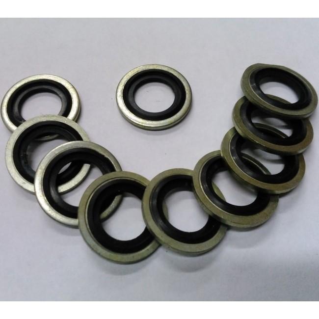 Металорезиновое уплотнительное кольцо. Размеры: 23.6x15.5x1.3.