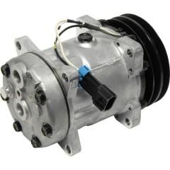 Компрессор кондиционера универсальный 7Н15 без эдектромагнитного сцепления.
