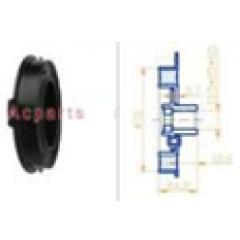 Пластина срывная:¢72 общая ширина:24.2 мм, длина ступицы:12.2 мм, Шлицы:13.5*25*0.5 : Denso7SEU14C Model: Audi/BMW/Benz