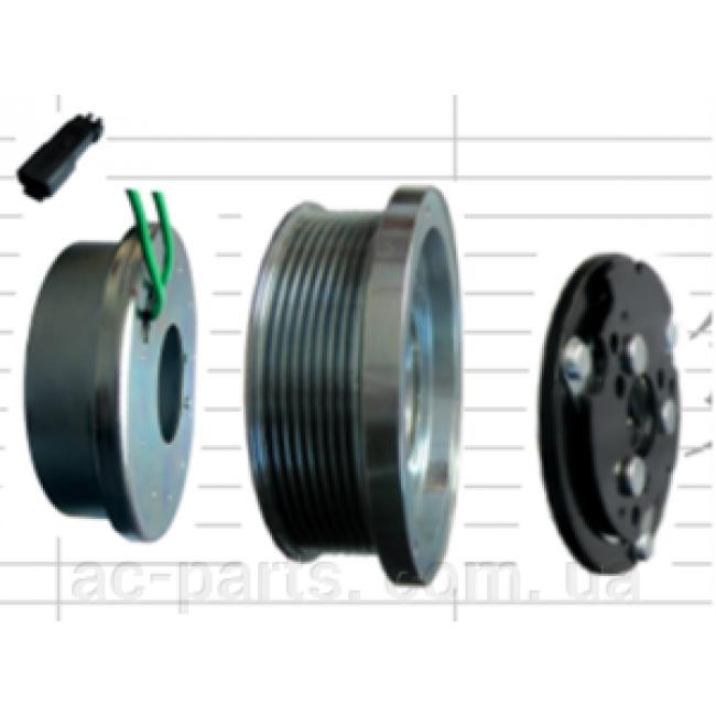 Комплект сцепления компрессора в сборе. Муфта в сборе SD7H15 Claas, CAT 133 мм, 8PK