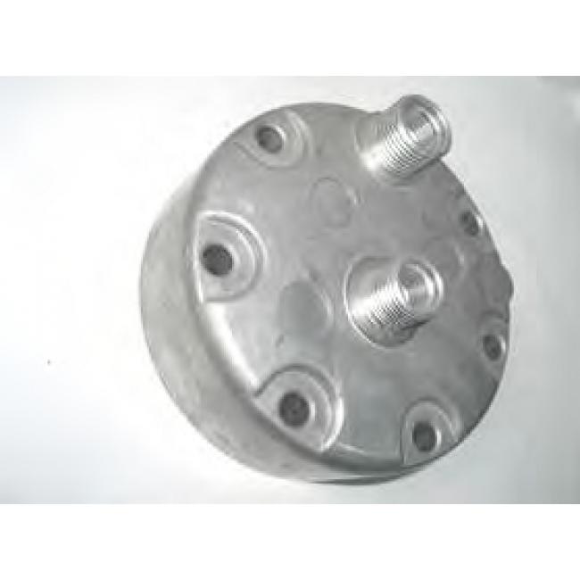 Крышка задняя компрессора кондиционера Sanden 7H13/7H15 Тип - KC, Выход - Горизонтальный