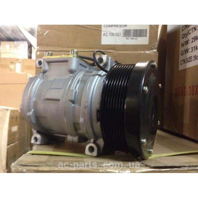 Компрессор Denso 10PA15C, 12V, поликлиновый шкив 8РК, диаметр шкива 130 мм