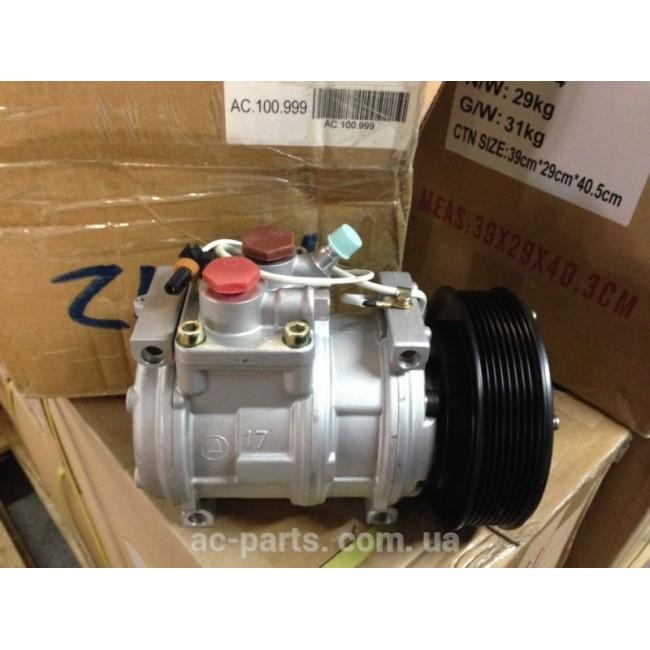 Компрессор Denso 10PA17C, 12V, поликлиновый шкив PV8, диаметр шкива 140,0 мм