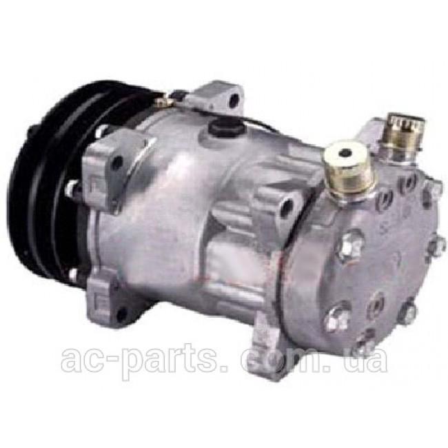 Компрессор кондиционера: Sanden 7H15 (709) Тип шкива: 2AДиаметр шкива: 132,00 мм 12V Вертикальные выходы под O-ring