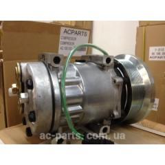 Компрессор кондиционера SD7H15, 24V, поликлиновый шкив PV8, диаметр 133,00 мм, горизонтальное расположение выходов