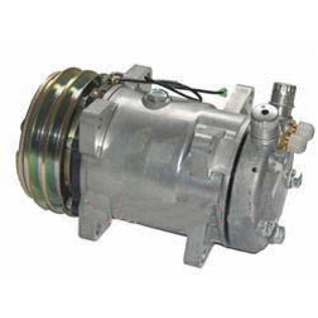 Компрессор кондиционера: Sanden 5H14 (508) 24 V Тип шкива: 2A Диаметр шкива: 132,00 мм Вертикальные выходы под O-ring