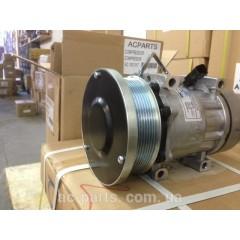 Компрессор кондиционера SD7H15, 12V, поликлиновый шкив PV8, диаметр 133,00 мм, горизонтальное расположение выходов