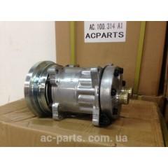 Компрессор кондиционера SD7H15, 12V, шкив A1, диаметр шкива 138,00 мм, горизонтальное расположение выходов