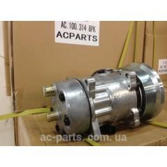 Компрессор кондиционера SD7H15, 12V, шкив PV , диаметр шкива 133,00 мм, горизонтальное расположение выходов
