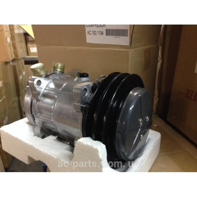 Компрессора: компрессор SD7H15, 12V, шкив A2, диаметр шкива 152,00 мм, вертикальное расположение выходов