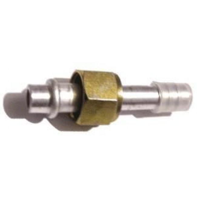 Фитинг прямой №6 под шланг внутренним диаметром 8мм и резьбой гайки 5/8-18 UNF тип соединения - (O-ring)