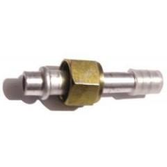 Фитинг прямой №8 под шланг внутренним диаметром 10мм и резьбой гайки 3/4-16UNF тип соединения - (O-ring)