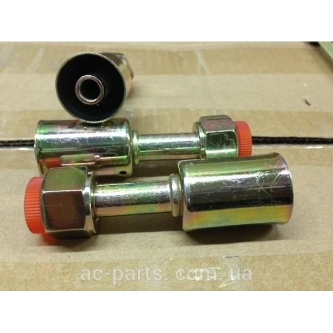 Фитинг стальной №10 прямой ORing, 7/8-14UNF, со стальным стаканом вн диаметром ¢ 26