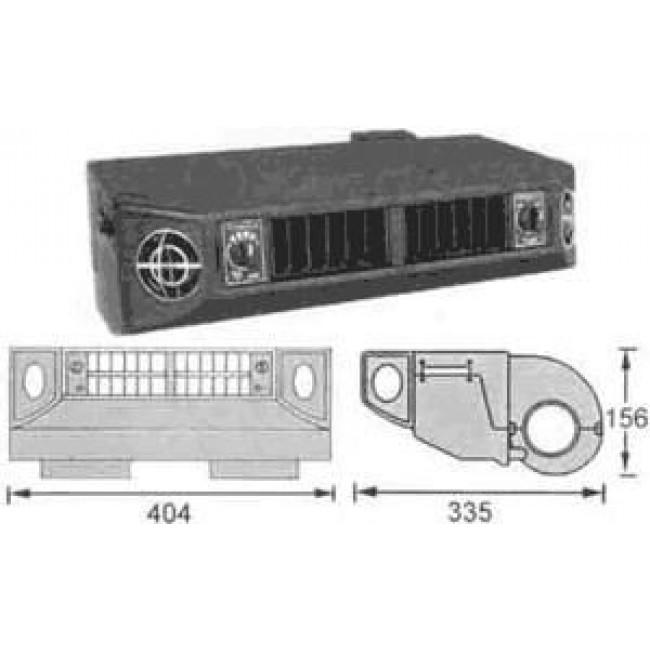 Испаритель подвесной Formula III Type BEU-404-100 single cool Холодопроизводительность -4,3 кВт 12V