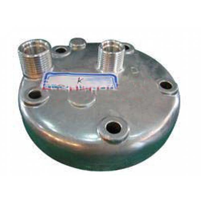 Крышка задняя компрессора кондиционера Sanden SD5H14 выход горизонтальный