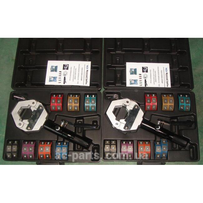 Инструмент для опресовки стаканов фитингов (Обжимка для опресовки с ручным приводом гидроцилиндра) 7 типоразмеров