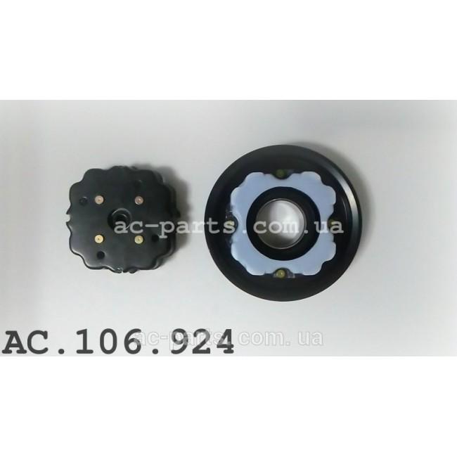 Комплект сцепления компрессора DENSO 6SE/7SE внешний диаметр 110 mm, ремень 6PK Audi, Mercedes