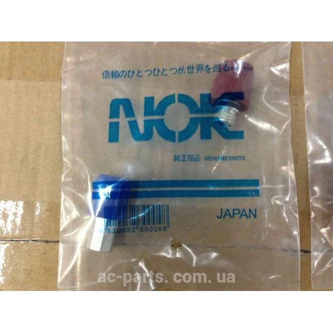 Комплект оригинальных сервисных портов (высокого и низкого давления) OPEL/Chevrolet/WV NOK Япония